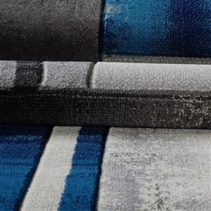 La Dole Rugs®  Adonis Geometric European Area Rug - 5' x 8' - Black/Grey