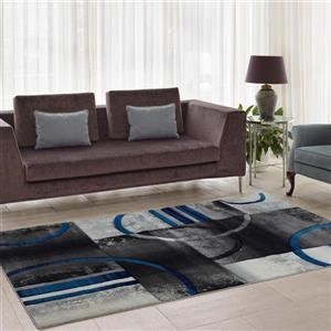 La Dole Rugs®  Adonis Geometric European Area Rug - 4' x 6' - Black/Grey