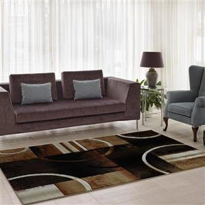 La Dole Rugs®  Adonis Geometric European Area Rug - 7' x 10' - Brown/Black