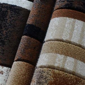 La Dole Rugs®  Adonis Geometric European Area Rug - 3' x 10' - Brown/Black
