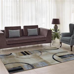 La Dole Rugs®  Adonis Geometric European Area Rug - 4' x 6' - Beige/Grey