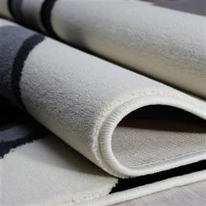 La Dole Rugs®  Abstract Contemporary Area Rug - 4' x 6' - Cream/Black