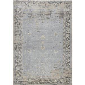 La Dole Rugs®  Abstract Garnet Contemporary Rug - 8' x 11' - Caramel/Grey