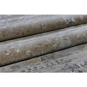 La Dole Rugs®  Abstract Garnet Contemporary Rug - 3' x 10' - Caramel/Grey