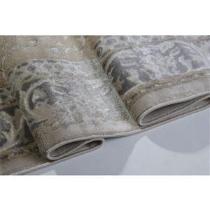 La Dole Rugs®  Abstract Garnet Contemporary Rug - 4' x 6' - Caramel/Grey