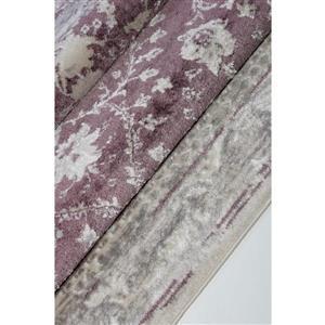 La Dole Rugs®  Abstract Garnet Contemporary Runner - 3' x 10' - Rose/Cream