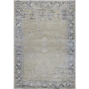 La Dole Rugs®  Abstract Garnet Contemporary Runner - 3' x 5' - Cream/Grey