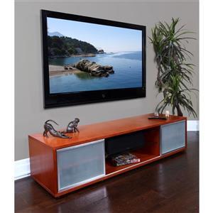 Plateau SR-V 75 TV Stand - Walnut/Silver Frame - 75-inW