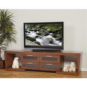 Plateau Valencia TV Stand - Expandable 51-in to 87-in - Walnut