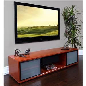Plateau SR-V 75 WBB TV Stand - Walnut/Black Frame - 75-in W