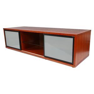 Plateau SR-V TV Stand - Walnut Finish/Black Frame - 65-in W