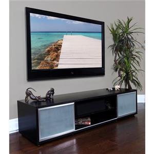 Plateau SR-V 75 TV Stand - Black Oak / Silver Frame - 75-in W