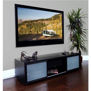 Plateau SR-V TV Stand - Black Oakt Finish/Black Frame - 65-in W