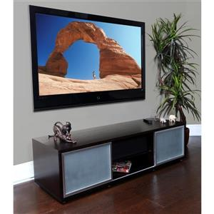 Plateau SR-V TV Stand - Black Oak Finish/Silver Frame - 65-in W