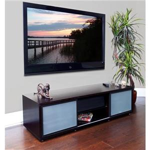 Plateau SR-V TV Stand - Espresso Finish/Black Frame - 65-in W