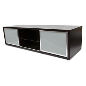 Plateau SR-V TV Stand - Espresso/Silver Frame - 65-in W