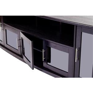 Plateau Newport Corner TV Stand - Black Oak - 80-in
