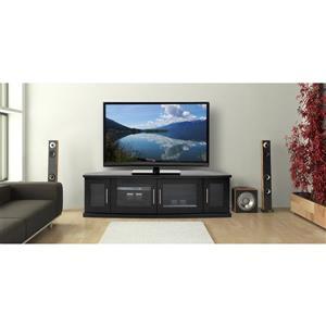 Plateau Newport TV Stand - Black Oak Finish - 62-in