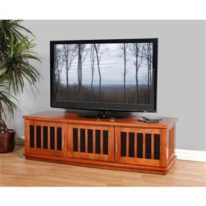 Plateau Craftsman LSXD42B TV Stand - Walnut Finish - 62-in