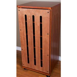 Plateau Tall Modern Audio Rack - Walnut Finish - 52-in