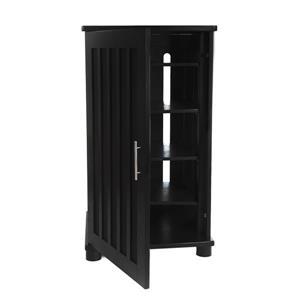 Plateau Craftsman Modern Enclosed Audio Rack - Black Oak - 41-in