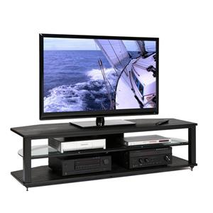 Plateau TV Stand CRX-2V 54BB - Black Oak Finish - 54-in