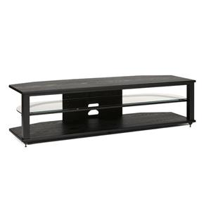 Plateau TV Stand CRX-2V 64BB - Black Oak Finish - 64-in