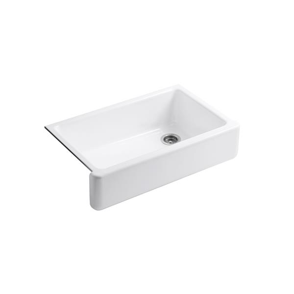 Kohler Whitehaven Undermount Single Kitchen Sink 35 69 In White Lowe S Canada