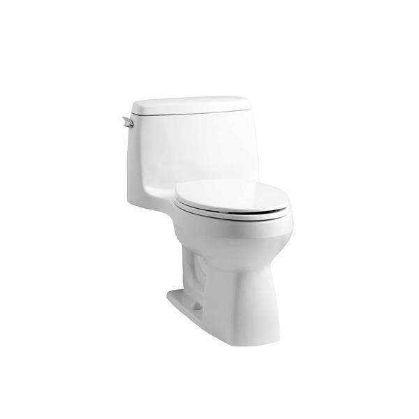 Kohler Santa Rosa White 1 Piece Single Flush Comfort Height Elongated Toilet 1 28 Gpf Lowe S Canada