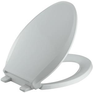 KOHLER Cachet Toilet Seat - 18.06-in - Plastic - Gray