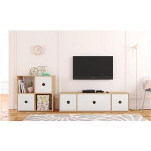 Nexera Domino Entertainment Set - Natural Maple & White - 2-Piece