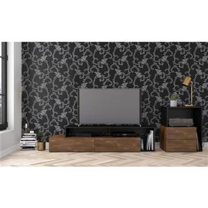 Nexera Paisley Entertainment Set - Truffle & Black - 2-Piece