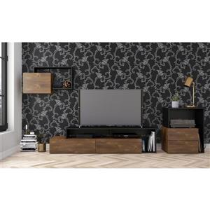 Nexera Paisley Entertainment Set - Truffle & Black - 3-piece