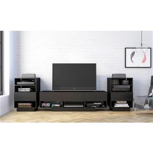 Nexera Stereo Entertainment Set TV Stand and audio cabinet - Black
