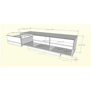 Nexera Stereo TV Stand and Wall Shelf -Black - 2-Piece
