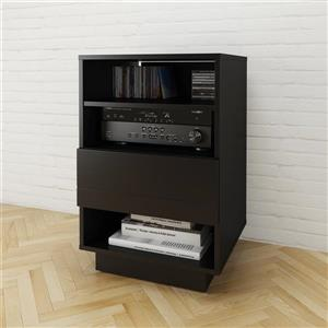 Nexera Stereo Entertainment - TV Stand and Audio Cabinet - Black