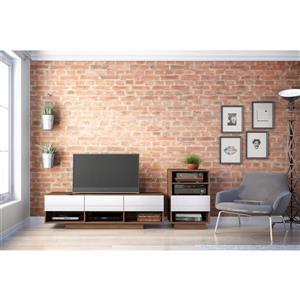Nexera Sequence Entertainment Set - Walnut & White - 2-piece