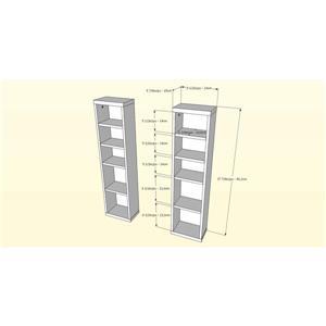 Nexera Sereni-TTV Stand/Audio Cabinet/Bookcase - Black and Ebony