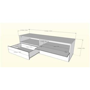 Nexera Blvd TV Stand and Wall Shelves - White  - 3-Piece