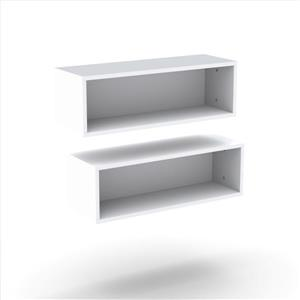 "Nexera Blvd TV Stand and Wall Shelves - 60"" - White  - 2-Piece"