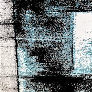 La Dole Rugs®  Abstract Area Rug - 7.7' x 10.3' - Polypropylene - Turquoise