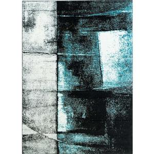 La Dole Rugs®  Abstract Area Rug - 3.8' x 5.2' - Polypropylene - Turquoise