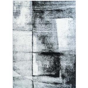 La Dole Rugs®  Abstract Area Rug - 3.8' x 5.2' - Polypropylene - Gray