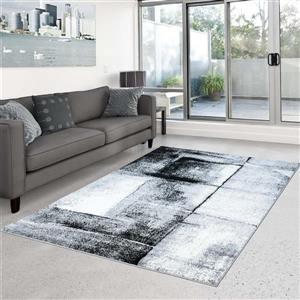 La Dole Rugs®  Abstract Area Rug - 5.2' x 7.3' - Polypropylene - Gray
