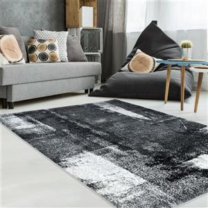 La Dole Rugs®  Abstract Rug - 5.3' x 7.5' - Polypropylene - Black/White