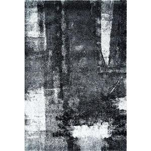 La Dole Rugs®  Abstract Rug - 3.9' x 5.6' - Polypropylene - Black/White