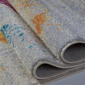La Dole Rugs®  Abstract Rug - 3.9' x 5.6' - Polypropylene - Multicolour