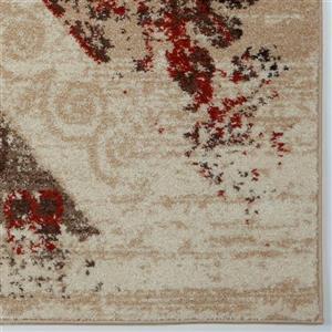 La Dole Rugs®  Abstract Rug - 2.6' x 9.8' - Polypropylene - Caramel/Orange