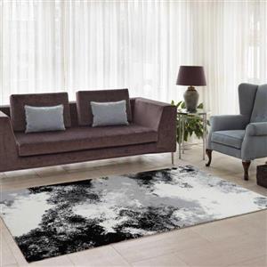 La Dole Rugs®  Abstract Area Rug - 2.6' x 9.8' - Microfibre - Multicolour