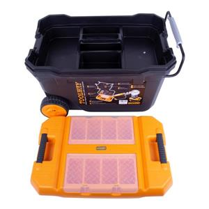 Toolway Toolbox with 2 Wheels - Plastic - 24-in x 15-in